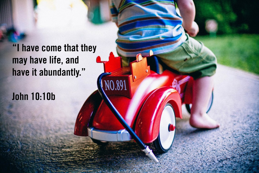 I have come that they may have life, and have it abundantly.
