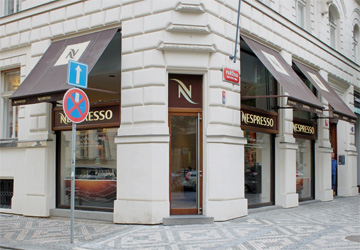 A Nespresso store I saw when visiting Prague last year.