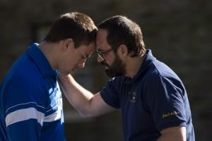 "Brothers Mark (Channing Tatum) and David Schultz (Mark Ruffalo), in ""Foxcatcher"""