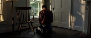 David, praying in the shadows of the communal home