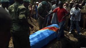 """A ranger's funeral, in """"Virunga"""""""