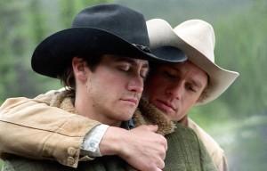 "Jake Gyllenhaal and Heath Ledger, in ""Brokeback Mountain"""