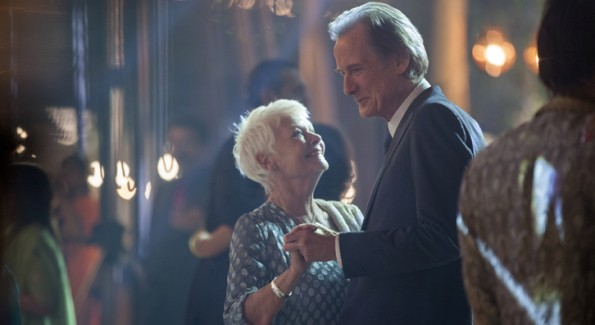 """Judi Dench as """"Evelyn Greenslade"""" and Bill Nighy as """"Douglas Ainslie"""" in THE BEST EXOTIC MARIGOLD HOTEL 2. Photo by: Laurie Sparham. Copyright © 2014 Twentieth Century Fox"""