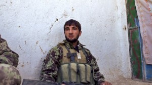 "An Afghan soldier, in ""Tell Spring Not to Come This Year"""