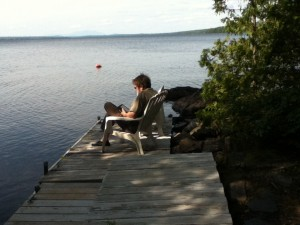 Reading on the Dock