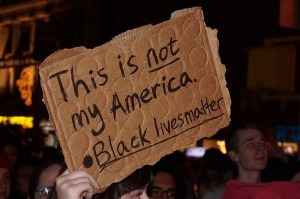 Ferguson Protest, NYC. The All-Nite Images. 2014.