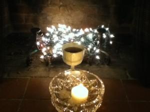 Imbolc Altar, Cat Chapin-Bishop, 2013.