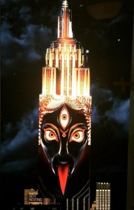 "Image of Hindu Goddess of Death Kali from ""Projecting Change"" Light show; image designed by artist Android Jones (https://www.facebook.com/AndroidJonesart)"