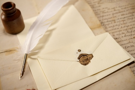 letter with quill pen