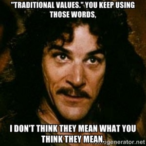 traditional values