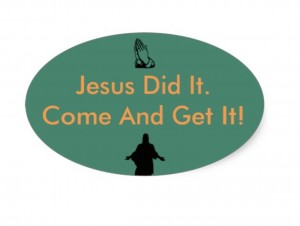jesus did it bumper