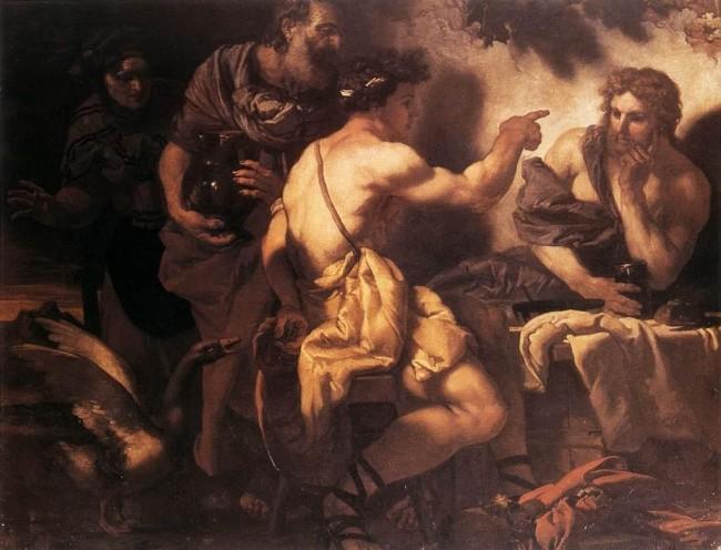 Jupiter and Mercury visiting Baucis and Philemon by Johann Carl Loth