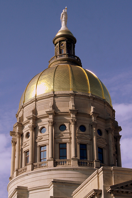 "The ""Gold Dome"" of the Georgia Capitol building, with Miss Freedom on top."