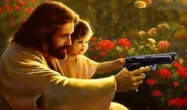 """Jesus, child, and glock,"" Greg Fallis"
