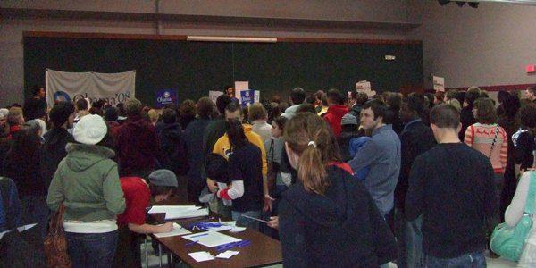"""""""Iowa City Caucus 2008,"""" Citizensharp, Wikimedia Commons C.C."""