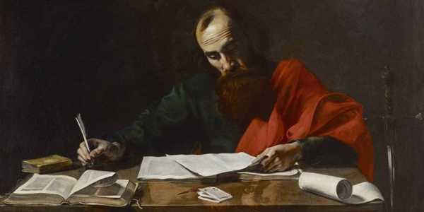 St. Paul Writing His Epistles, Valentin de Boulogne