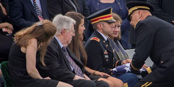 """""""Maj. Gen. Harold Greene's Funeral,"""" Staff Sgt. Bernardo Fuller, Wikimedia C.C."""