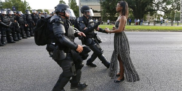 The arrest of Ieshia Evans (Jonathan Bachman / Reuters)