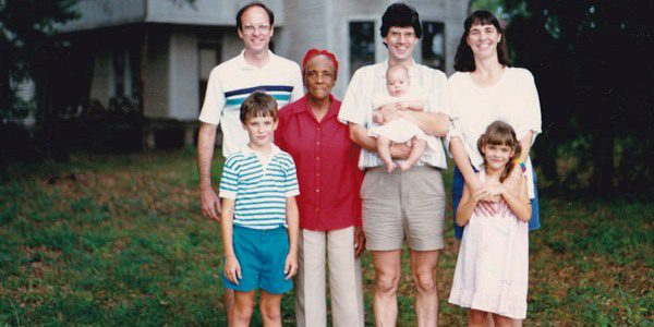 My dad, me, my sister Julia, my aunt Jeannie, my uncle Kees, and our lifelong friend Katie Mae Wilson