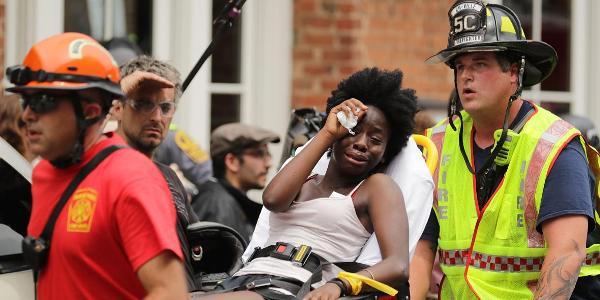 black woman carried away