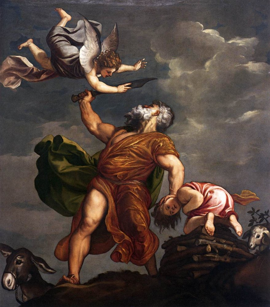 Sacrifice of Isaac , by Titian