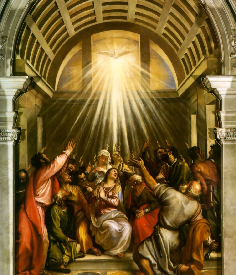 Pentecost, Titian, 1545 Pentecost Sunday: The Holy Spirit ...