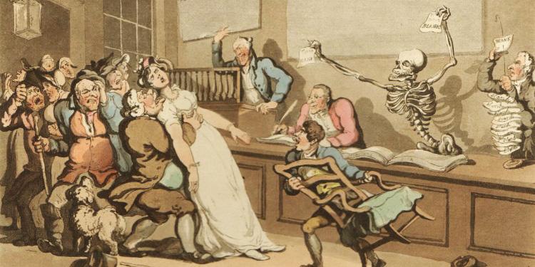 'The English Dance of Death' Thomas Rowlandson, 1814-1816, d33