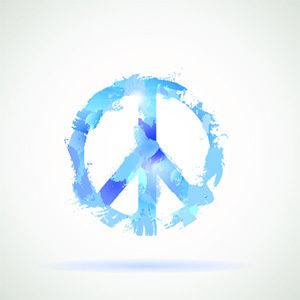 Peace Hippie Symbol.