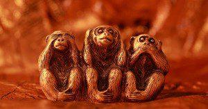 Morality, See no Evil Hear no Evil Speak no Evil, Monkey, Three