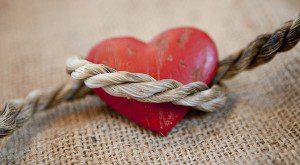 heart tied