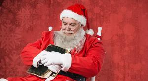Santa with Bible