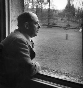 C.S. Lewis looking out a window