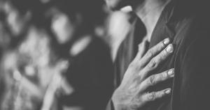 hand over heart praying