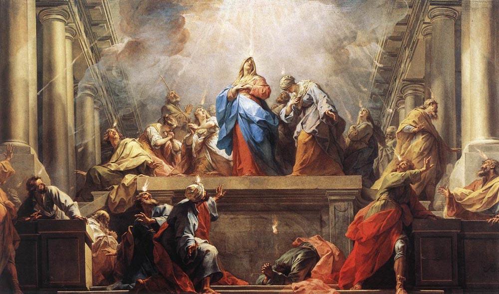 """Image: """"Pentecote"""" by Jean Il Restout, via WikiMedia"""