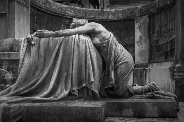 Image: Grieving Statue via photopin (license)