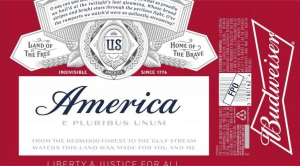 Budweiser America Credit: Alcohol Tobacco Tax and Trade Bureau