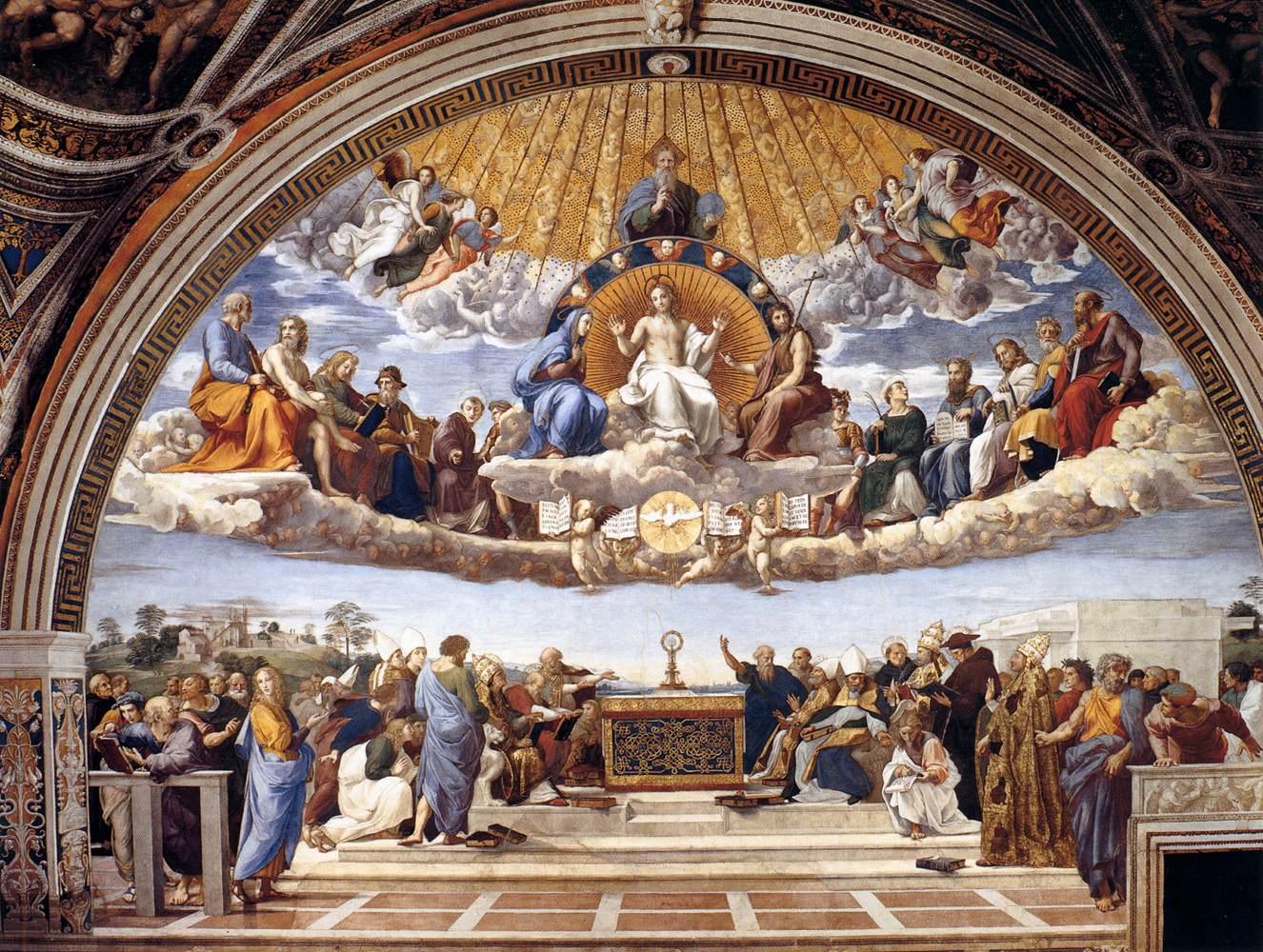 Raphael, Disputation of the Holy Sacrament, 1510