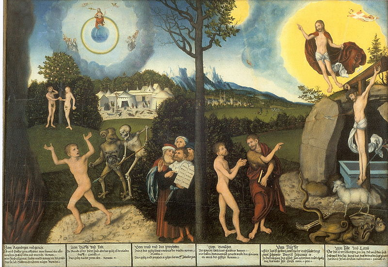 Cranach the Elder, Law and Grace, 1529.