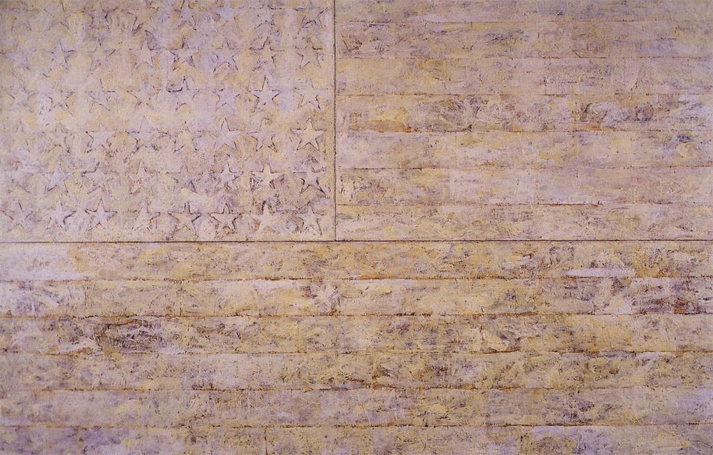 Jasper Johns, White Flag (1955)
