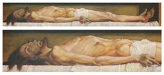 Hans Holbein, Dead Christ, 1522. Dostoevsky's inspiration in the Idiot.