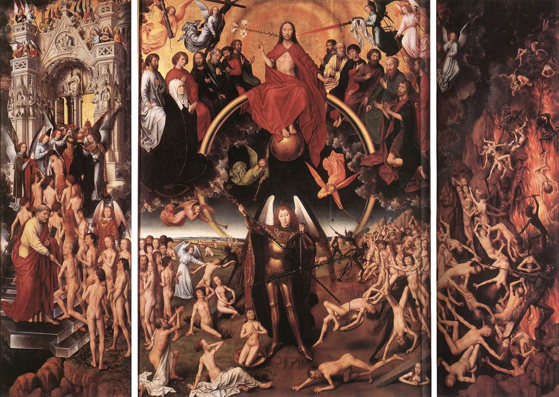 Hans Memling, Last Jugdment, stolen by pirates bought by the city of Gdansk, PL: Hell Ain't What it Used to Be