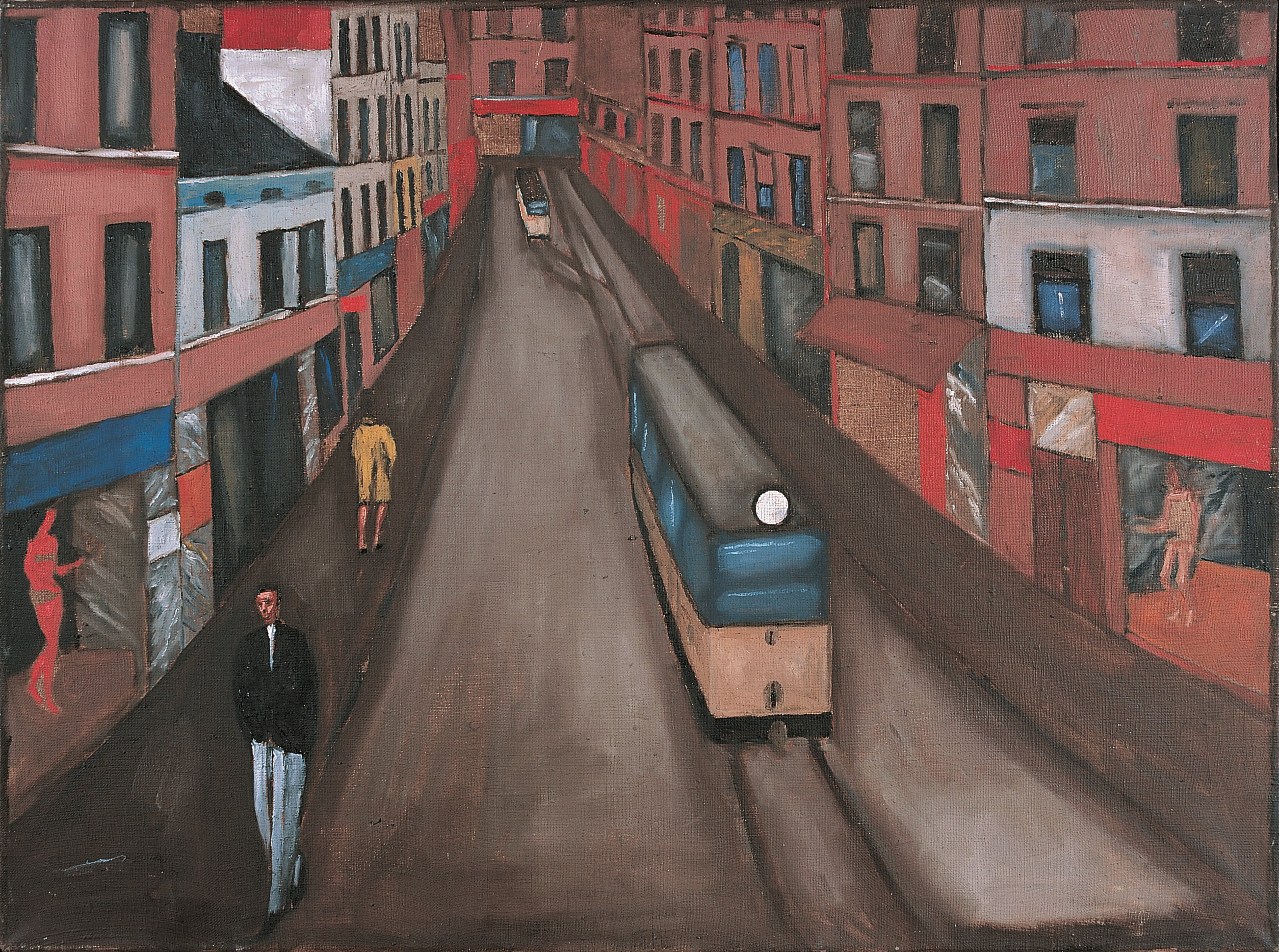 Plate 2. Jerzy Nowosielski. City Landscape, 1959. Oil on canvas. 23 x 32 inches.