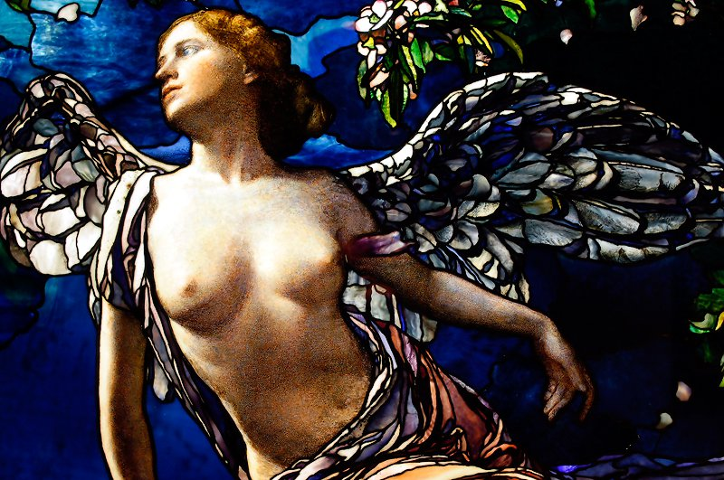 This is La Farge's stained-glass version of Spring. I really miss Spring right now.
