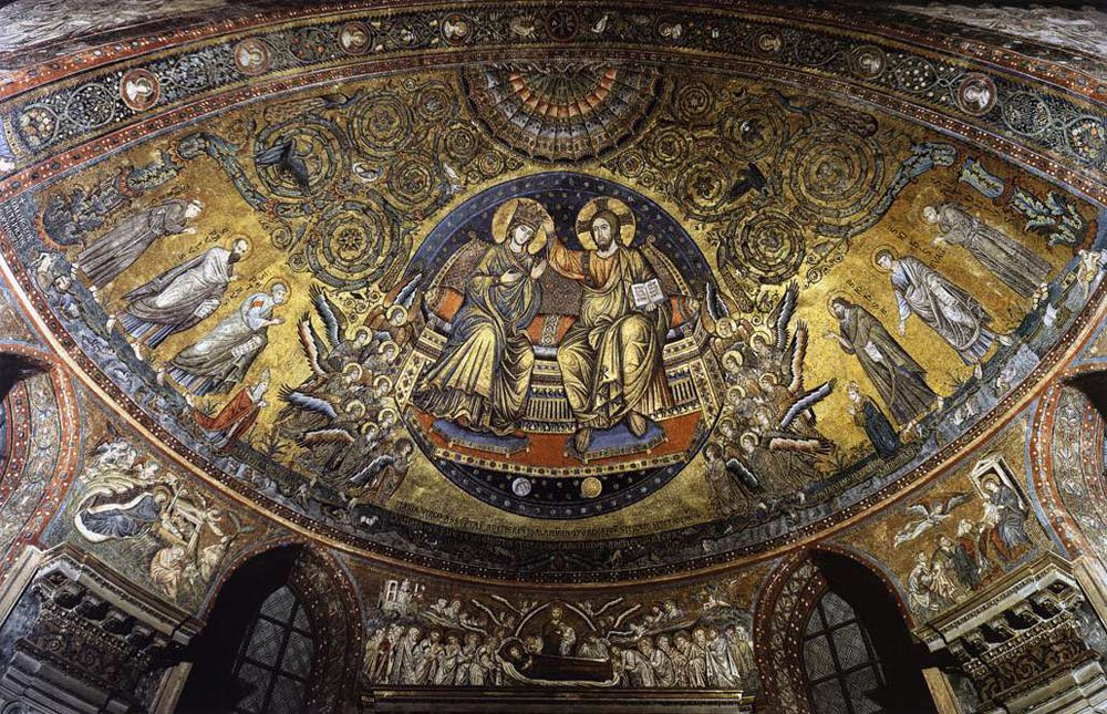 The glorious mosaic in Santa Maria Maggiore. It dates all the way back to the founding of the church, I think.