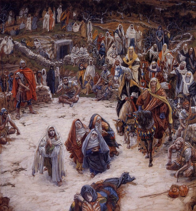 Creative, but still too clean?  James Tissot, Vision from the Cross, 1886.