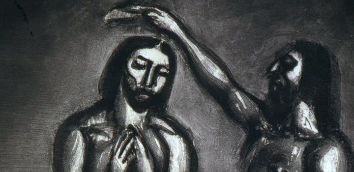 Georges Rouault, We...were baptized into Jesus Christ, were baptized into his death, Miserere Series, Plate #30, 1927.