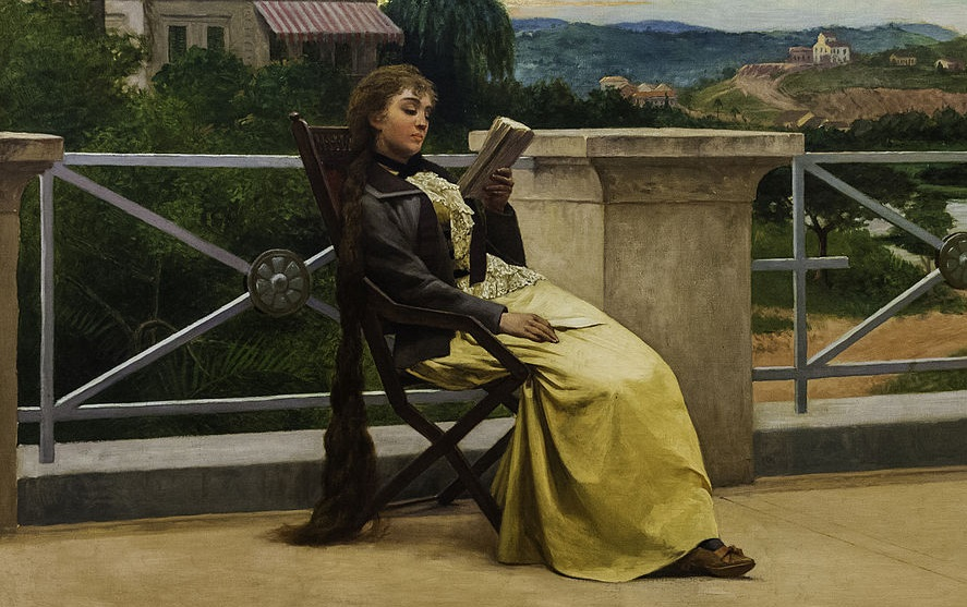 These are books that have totally absorbed me in the past (Jose Ferraz de Almeida, Reading, 1892; Source: Wikimedia Commons, PD-Old-100).