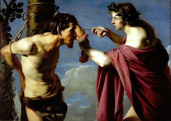 Yes, torture is a tool of refined societies like ours, especially when we seek to impose order on those we label barbarians. (Bartolomeo Manfredi, Apollo and Marsyas, circa 1610)