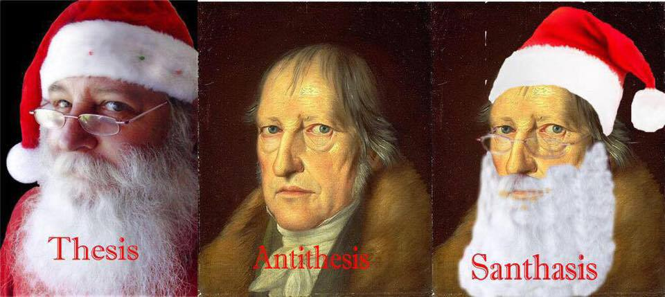 Santa does to Jesus what he's done to Hegel here.