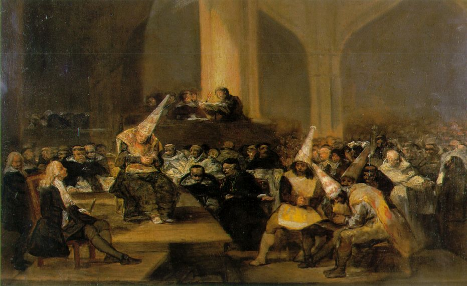 Who's the real dunce after Obama's Prayer Breakfast comments on history? (Goya, The Inquisition Tribunal, 1819; Wikimedia Commons, PD-Old-100)